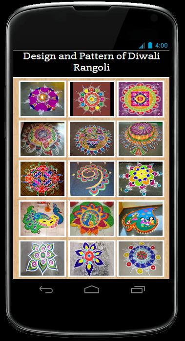 Design and Pattern of Diwali Rangoli poster