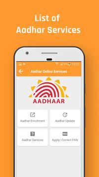 Aadharcard Online Services screenshot 1