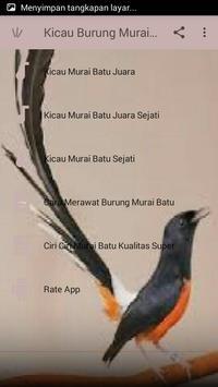 Kicau Burung Murai Batu Juara screenshot 1
