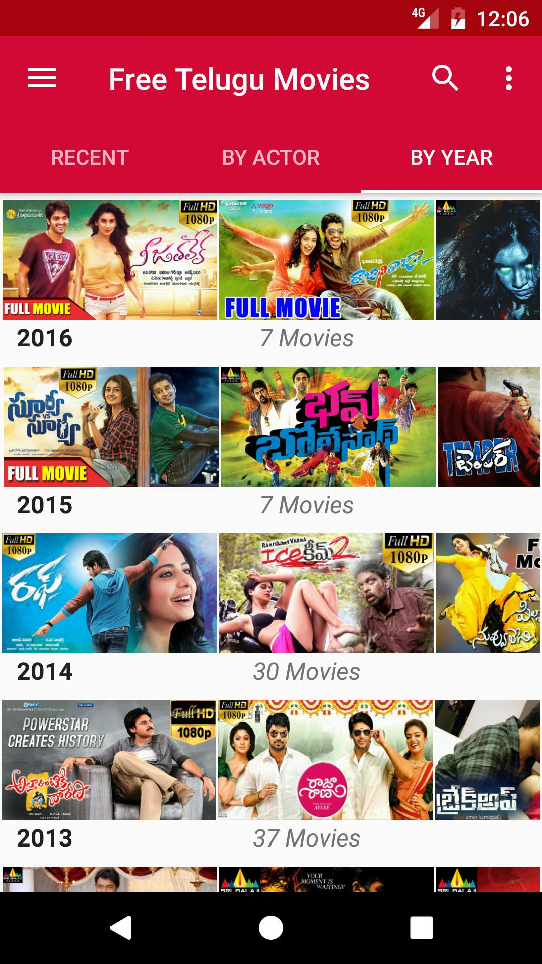 Free Telugu Movies for Android - APK Download