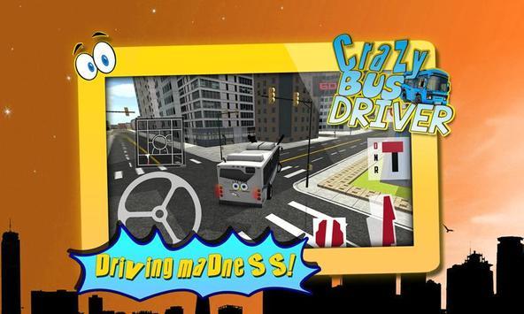 Crazy Bus Driver 3D Simulator poster