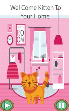 Little Hungry Kitten Upstairs poster