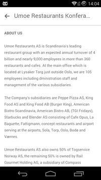 Umoe Restaurants Konferansen apk screenshot