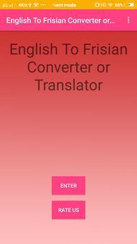 English To Frisian Converter or Translator poster