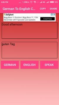 German To English Converter or Translator screenshot 2