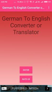 German To English Converter or Translator screenshot 3