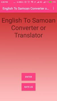 English To Samoan Converter or Translator poster