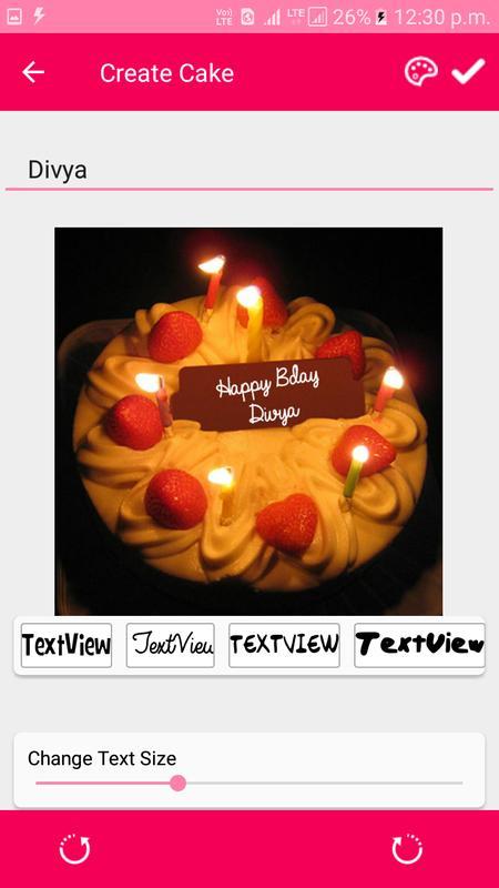 Happy Birthday Cake Name 2018 Poster
