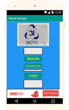 Railway Reservation IRCTC poster
