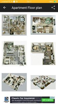 Apartment Floor Plan Design poster