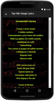 Francesco Gabbani Song Lyrics apk screenshot
