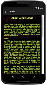 Jenny Lewis Song Lyrics apk screenshot