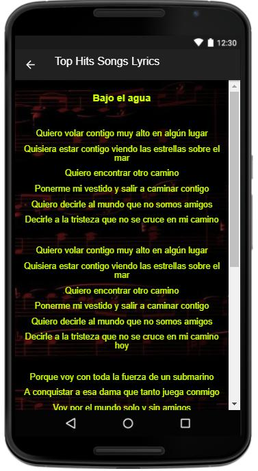 Manuel Medrano Song Lyrics For Android Apk Download