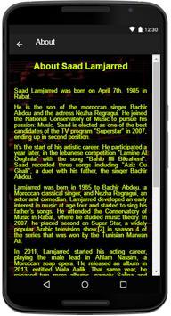 Saad Lamjarred Song Lyrics screenshot 4