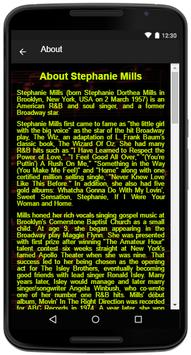 Stephanie Mills Song Lyrics apk screenshot