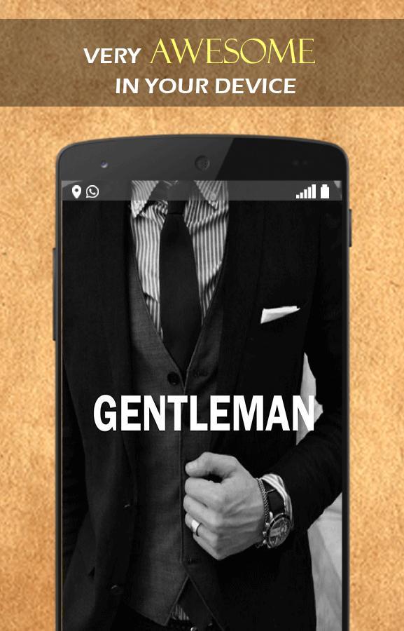 Neat Gentleman wallpaper poster
