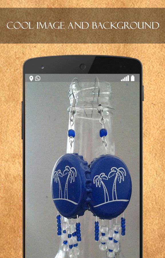 DIY Bottle Cap Earrings poster