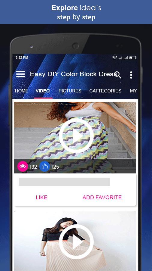 Easy DIY Color Block Dress poster