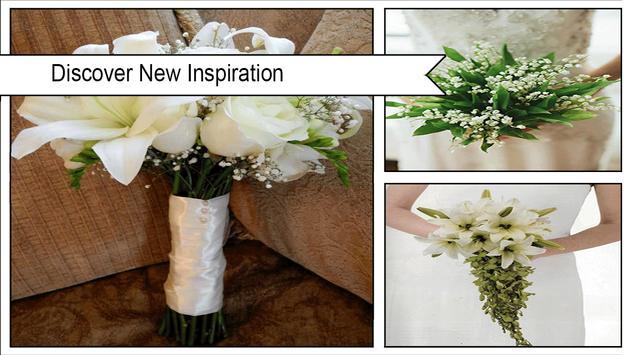 DIY white lily flower bouquet screenshot 1