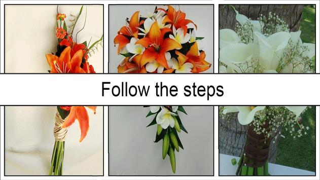 DIY white lily flower bouquet screenshot 4