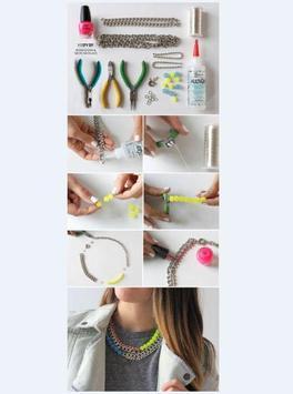 DIY jewelry craft tutorial poster