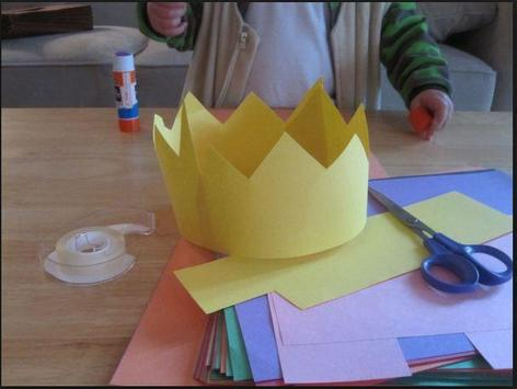 DIY paper crown apk screenshot
