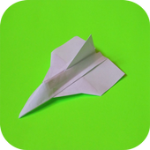 DIY paper airplane icon