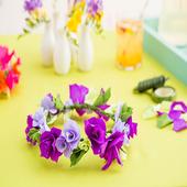 DIY paper flower backdrop icon