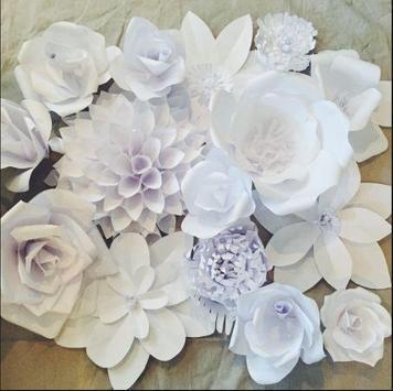 DIY paper flower backdrop apk screenshot