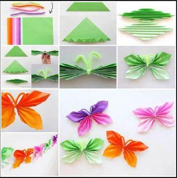 DIY paper butterfly poster