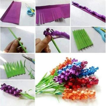 DIY paper flower craft apk screenshot