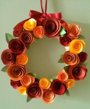 DIY paper flower craft poster