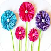 DIY paper flowers icon