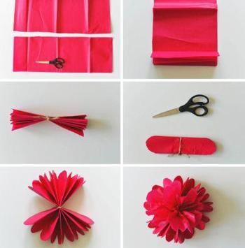 DIY paper flowers poster