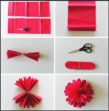 DIY paper flower poster