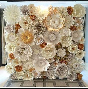DIY paper flower wall apk screenshot