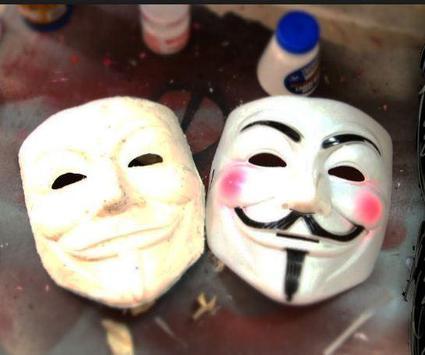 DIY paper mache mask poster