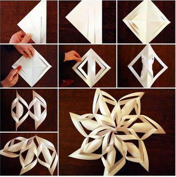DIY paper stars poster