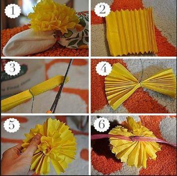 DIY paper pom poms apk screenshot