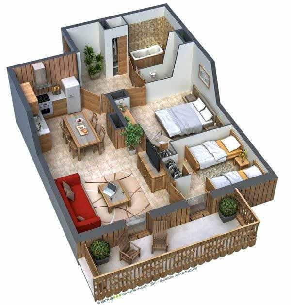 Simple 3D House Plans For Android