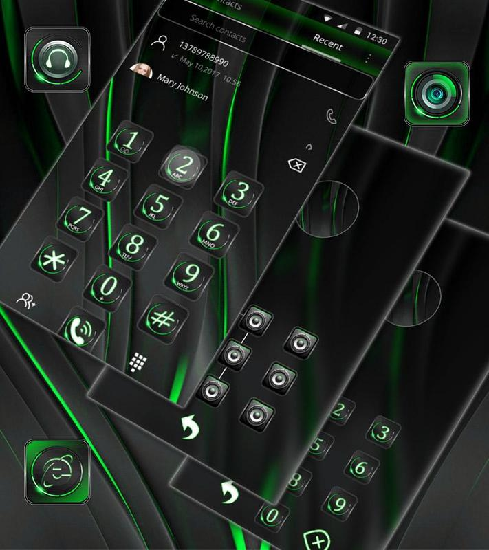 cool black green theme for android apk download