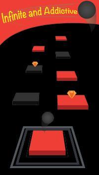 Zig Zag Bouncing Ball Rush- Free Vortex Tile Games poster