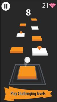 Zig Zag Bouncing Ball Rush- Free Vortex Tile Games screenshot 1
