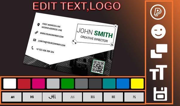 Business card creator apk download free business app for android business card creator poster business card creator apk screenshot reheart Choice Image