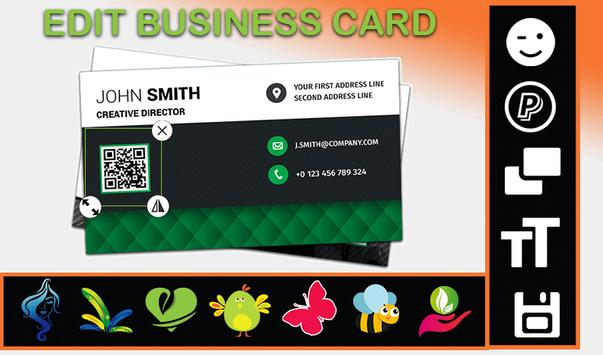 Business card creator apk download free business app for android business card creator apk screenshot reheart Choice Image