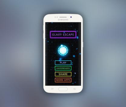 Galaxy Escape - Atom Radiation poster