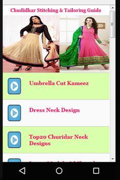 Chudidhar Stitching & Tailoring Guide apk screenshot
