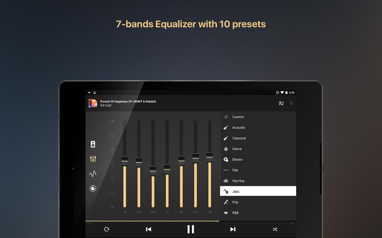 aplikasi pemutar musik equalizer music player booster