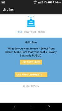 dj liker - free facebook likes screenshot 1