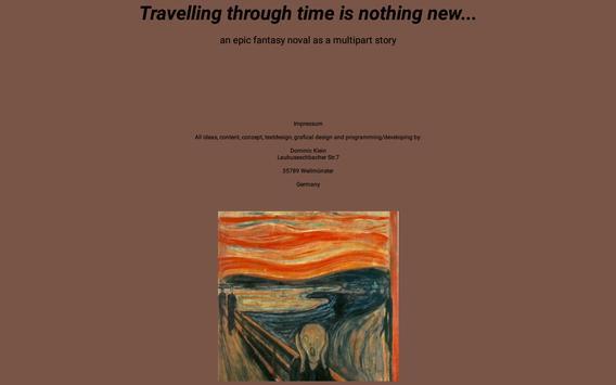 Time travel 1_0 epic ebook fantasy adventure novel apk screenshot
